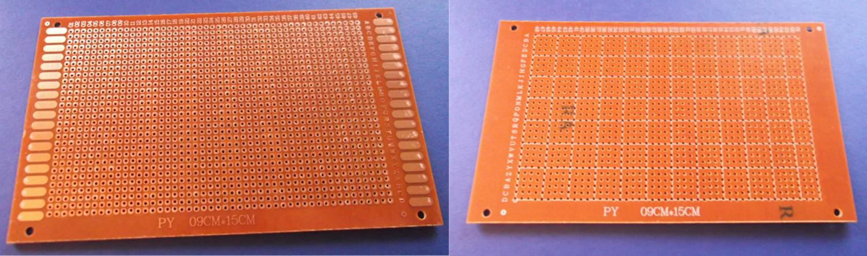 2 X Experimentier Platine Prototype Board 9x15cm Leiterplatte Lochraster Kupfer